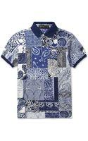 Etro Paisley Print Cotton Pique Polo Shirt - Lyst