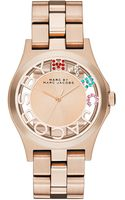 Marc By Marc Jacobs Henry Rose Goldtone Skeleton Watch - Lyst
