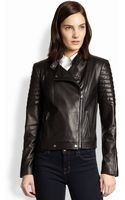 J Brand Crista Leather Motorcycle Jacket - Lyst