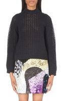 3.1 Phillip Lim Open-knit Wool-blend Jumper - Lyst