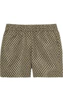 Burberry Prorsum Printed Silk Faille Shorts - Lyst