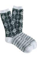 J.Crew Snowflake Trouser Socks - Lyst