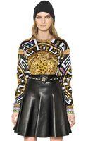 Versace Printed Viscose Jersey Top - Lyst