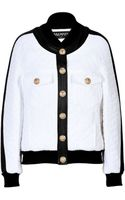 Balmain Quilted Bomber Jacket with Leather Trim - Lyst