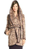 Diane Von Furstenberg Bergan Leopard Wrap Coat - Lyst