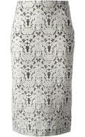 Ermanno Scervino Lace Pencil Skirt - Lyst