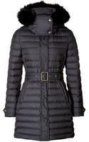 Burberry Brit Fur Trim Colbrooke Puffer Coat in Black - Lyst