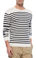 Diesel Striped Pullover Sweater White - Lyst