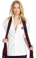 Polo Ralph Lauren Frenchcuff Boyfriend Shirt - Lyst