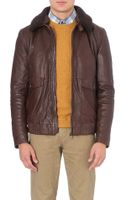 Hugo Boss Aviator Leather Jacket - Lyst