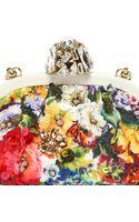 Dolce & Gabbana Dea Embellished Printed Brocade Clutch - Lyst