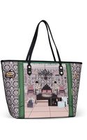 Moschino Large Fabric Bag - Lyst