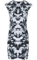 McQ by Alexander McQueen Printed Stretch Cotton Mini Dress - Lyst