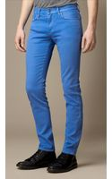 Burberry Slim Fit Overdyed Jeans - Lyst