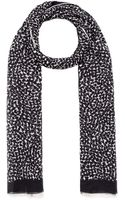 Saint Laurent Cashmereblend Abstract Heart Scarf - Lyst