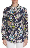 Equipment Slim Floralprint Silk Shirt - Lyst