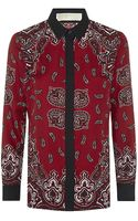 MICHAEL Michael Kors Paisley Silk Shirt - Lyst