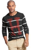Tommy Hilfiger H Stripe Long Sleeve Tee - Lyst