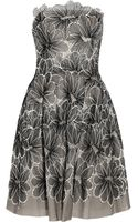 Lela Rose Floral-embroidered Tulle Dress - Lyst