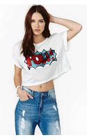 Nasty Gal Pow Sequin Crop Tee - Lyst