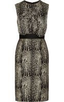 Giambattista Valli Printed Wool and Silk Blend Dress - Lyst