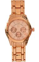 River Island Rose Gold Tone Bracelet Watch - Lyst
