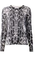 Equipment Sloane Cashmere Python Print Sweater - Lyst