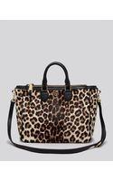 Tory Burch Robinson Leopard-print Calf Hair Tote - Lyst