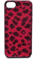 Marc By Marc Jacobs Sasha Leopard Iphone 5 Case - Lyst