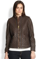 Michael Michael Kors, Salon Z Quilted Leather Motorcycle Jacket - Lyst