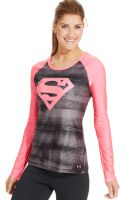 Under Armour Supergirl Sonic Heatgear Top - Lyst