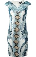 Just Cavalli Printed Dress - Lyst