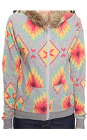 Forever 21 Abstract Top W Hood - Lyst