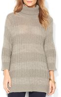 Ralph Lauren Lauren Open Knit Turtleneck Sweater - Lyst