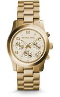 Michael Kors Runway Goldtone Stainless Steel Chronograph Watch - Lyst
