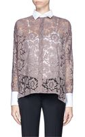 Valentino Sheer Lace Shirt - Lyst