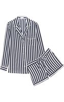 Equipment Lilian Striped Washed-silk Pajama Set - Lyst