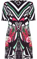 River Island Black Abstract Print Shift Dress - Lyst