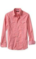 Banana Republic Slim Fit Multi Gingham Utility Shirt Lava - Lyst
