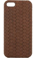 The Case Factory Brown Leather Iphone 5 Case - Lyst