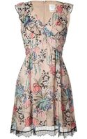 Anna Sui Rose Print Dress - Lyst