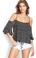 Forever 21 Woven Crossback Trapeze Top - Lyst