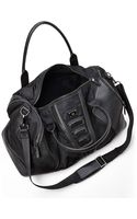Verri Black Leather Trim Duffel Bag - Lyst