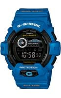 G-shock Mens Digital Blue Resin Strap Watch 55x53mm 2 - Lyst