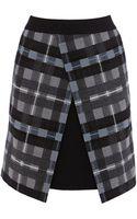 Karen Millen Grey Check Mini Skirt - Lyst