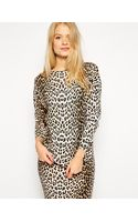 Asos Co-ord Sweater in Leopard Print - Lyst