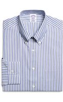 Brooks Brothers Noniron Regular Fit Alternating Stripe Dress Shirt - Lyst