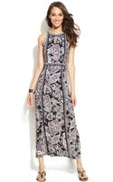 Inc International Concepts Printed Maxi Halter Dress - Lyst