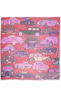 Anna Coroneo Vintage Cars Printed Chiffon Scarf - Lyst