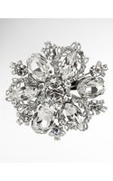 Nina Treasure Floral Crystal Brooch - Lyst